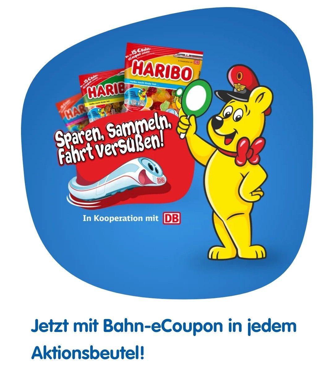 Bis zu 3x 5€ DB-Gutschein in HARIBO Aktions-Packungen