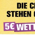 5€ Freebet bei Interwetten