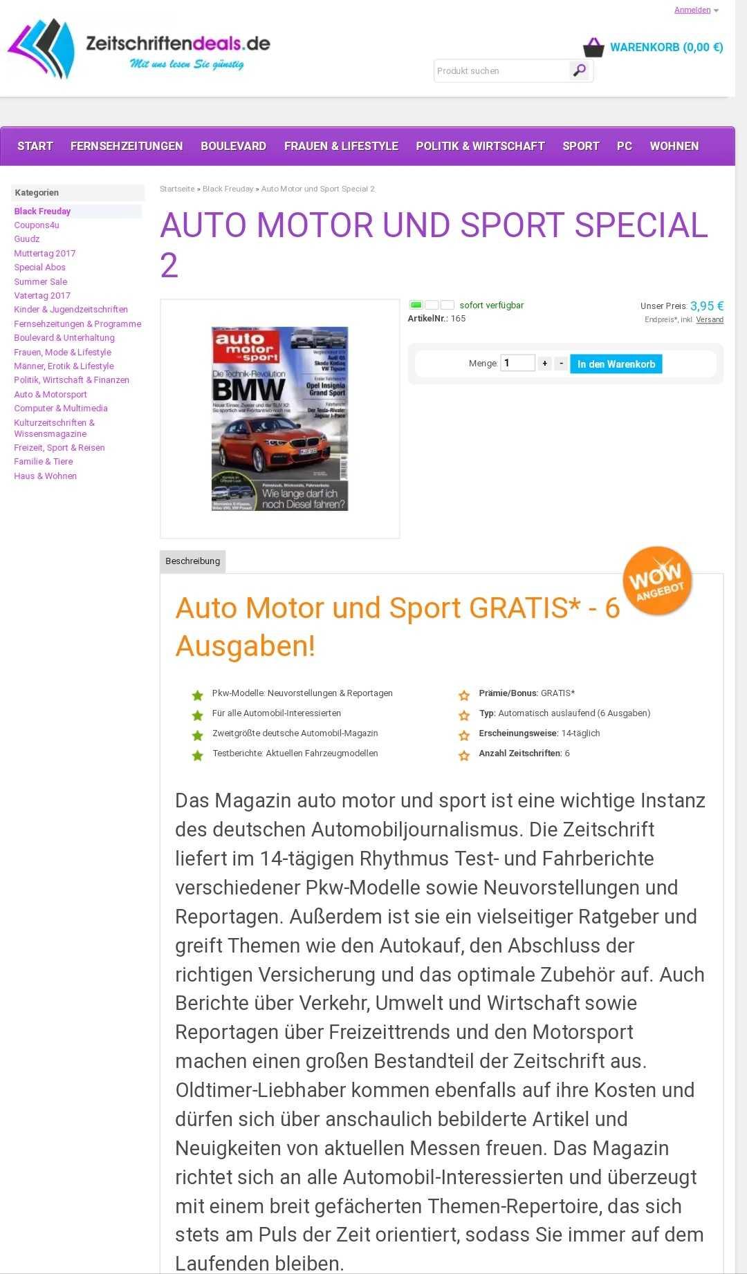6 ausgaben auto motor und sport fuer nur 395 euro kuendigung nicht notwendig