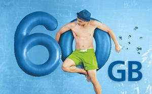 60gb gratis fuer o2 free kunden fuer 1 monat per anruf