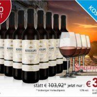 8 flaschen markenrotwein fuer 3990e bei ebrosia