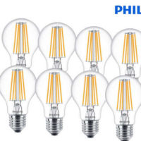 8x philips led lampen e27