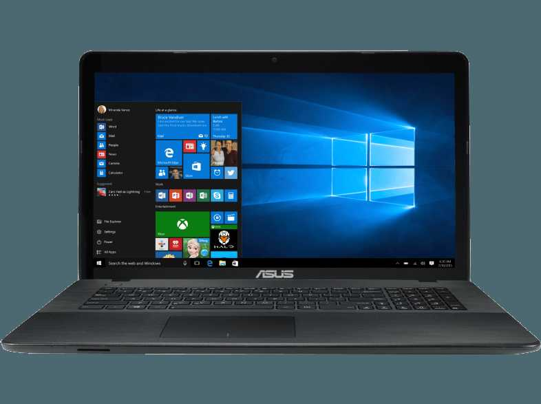 ASUS R752NA TY047T  Notebook mit 17.3 Zoll Display  Celeron  Prozessor  4 GB RAM  500 GB HDD  HD Grafik 500  Schwarz