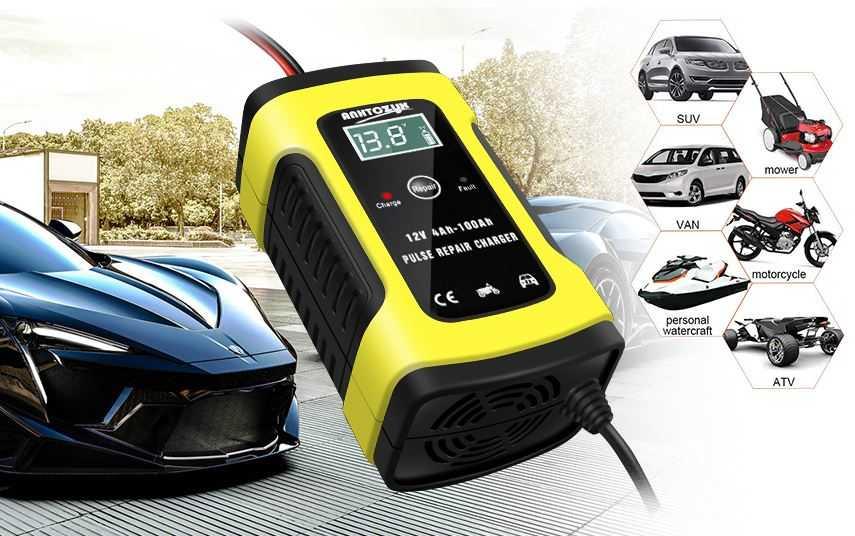 Autobatterie Ladeger t 6A 12V Batterieladeger t Auto Vollautomatisches