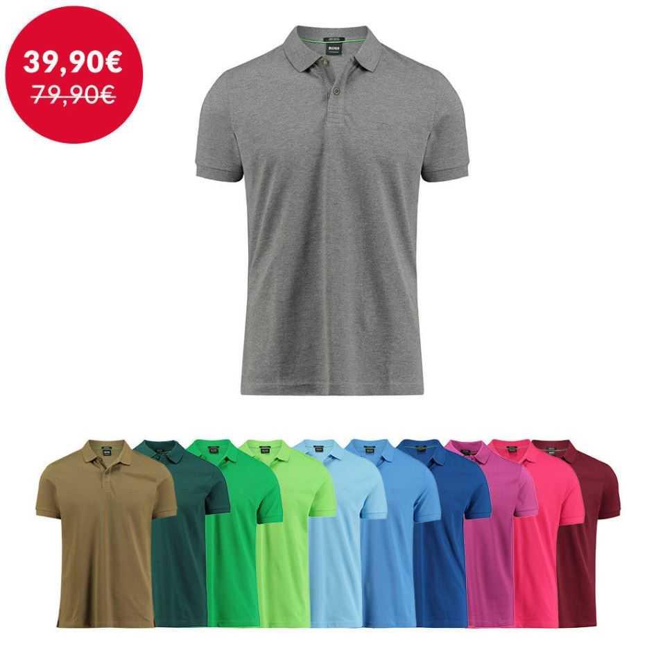 BOSS Herren Poloshirt Piro Regular Fit Kurzarm