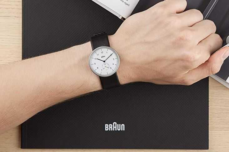 Braun Herren Analog Quarz Armbanduhr BN0024WHBKG Mineralglas