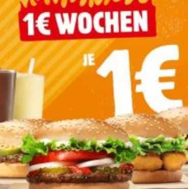 Burger King 1 Euro Angebote