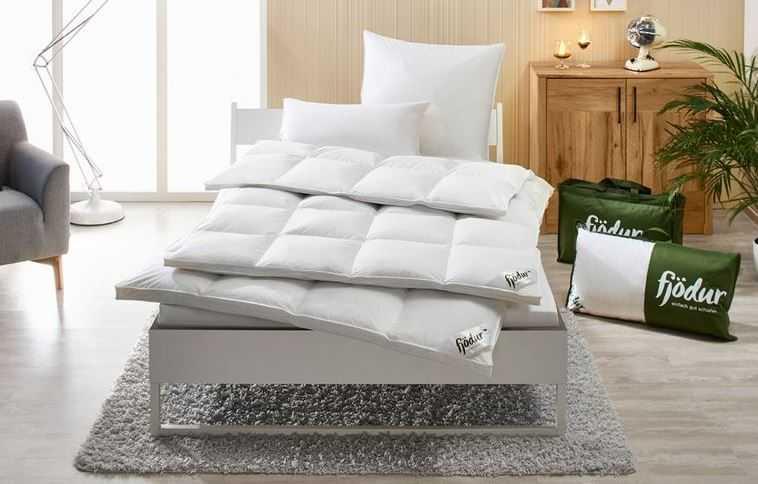 Fjoedur Luxus Gaensedaunen Kassettenbettdecke extra warm