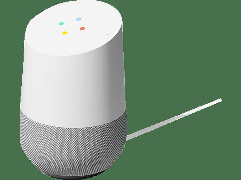 GOOGLE Home  Smart Speaker  Weiss Schiefer1