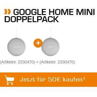 Google Home Mini Doppelpack