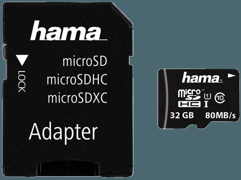 HAMA microSDXC Class 10 UHS I  32 GB