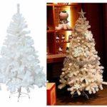 HG Künstlicher Weihnachtsbaum mit Klappsystem - 180cm, weiß