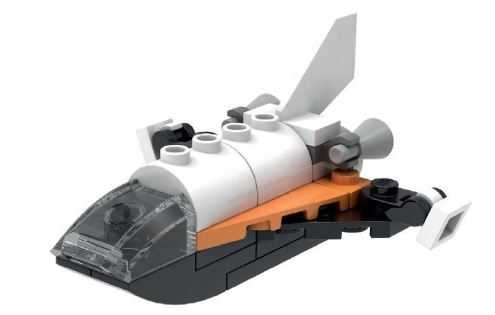 Heute in LEGO Stores kostenloses Minimodell des Space Shuttles