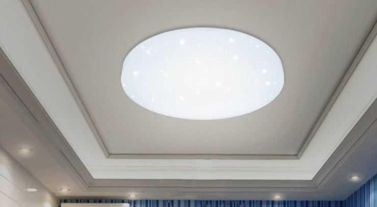 LED Deckenleuchte Kaltwei Rund Starlight Effekt Deckenlampe Kinderzimmer Schlafzimmer Sternen Himmel