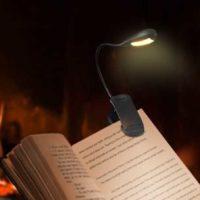 Minger Leselampe tragbare wiederaufladbare 7 LED Klemmleuchte