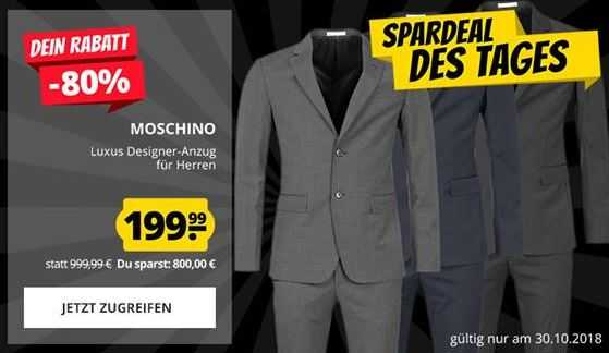 Moschino Anzug 3 Farben