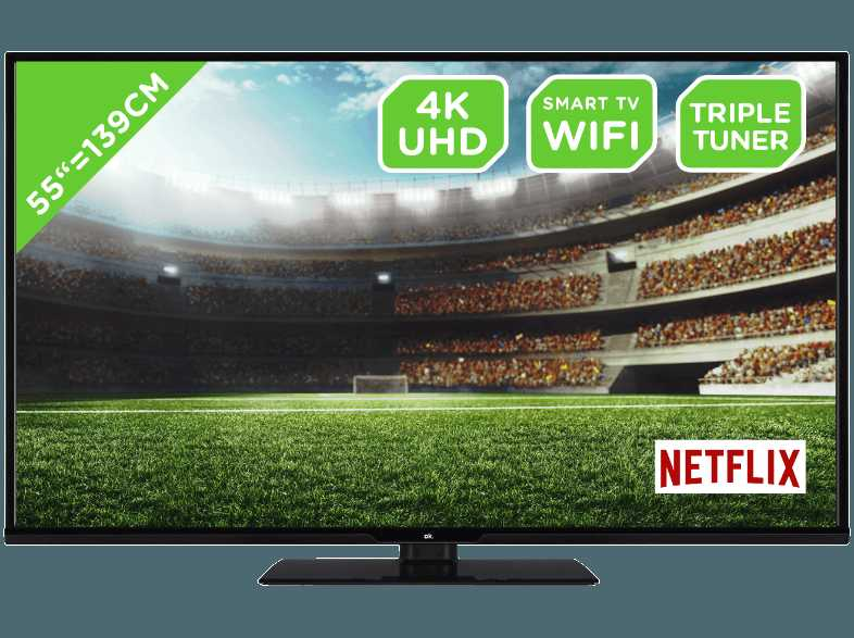 OK. ODL 55651U TIB LED TV  Flat  55 Zoll  UHD 4K  SMART TV