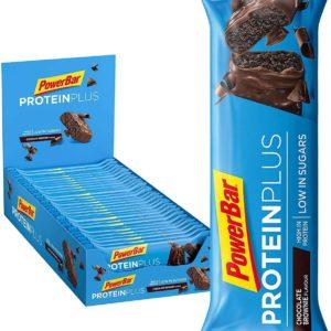 PowerBarProteinPlusRiegelmitnur107Kcal LowSugarEiweissriegelFitnessriegelmitBallaststoffen Chocolate Brownie30x35g 2