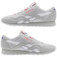 Reebok Classics women Classic Leather Nylon Grey NEU