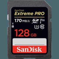 SANDISK Extreme PRO  SDXC Speicherkarte  128 GB  170 MB s  UHS Class 3