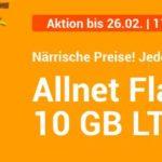 10GB Datenvolumen + monatlich kündbar für 9,99€ bei WinSIM