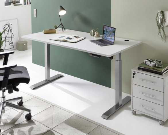 SchreibtischhoehenverstellbarGrauSilberfarben2021 03 10