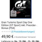 Gran tourismo Sport Ps4 bei Ebay Wow