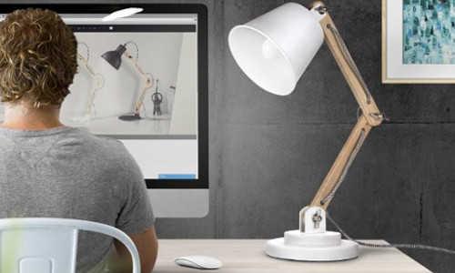 Tomons schwenkbare Schreibtischlampe Leselampe Retro Design
