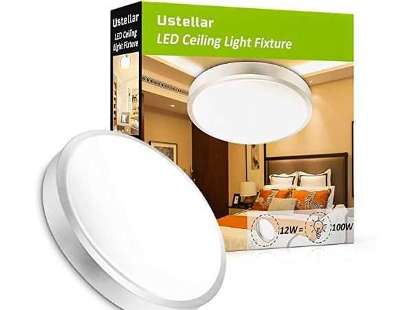 Ustellar 12W LED Deckenleuchte ersetzt 100W Gl hbirne