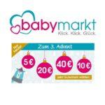 Adventsgutscheine bei Babymarkt.de: Bis zu 40€ Rabatt