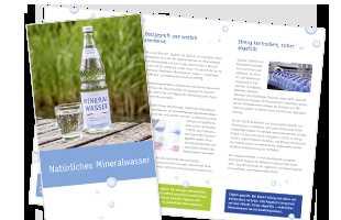 alles ueber das mineralwasser viele publikationen zum download und bestellen