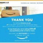 Amazon UK: 10£ geschenkt ab 50£