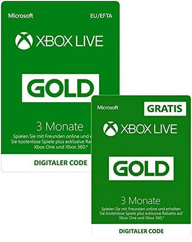 amazon 6 monate xbox live gold