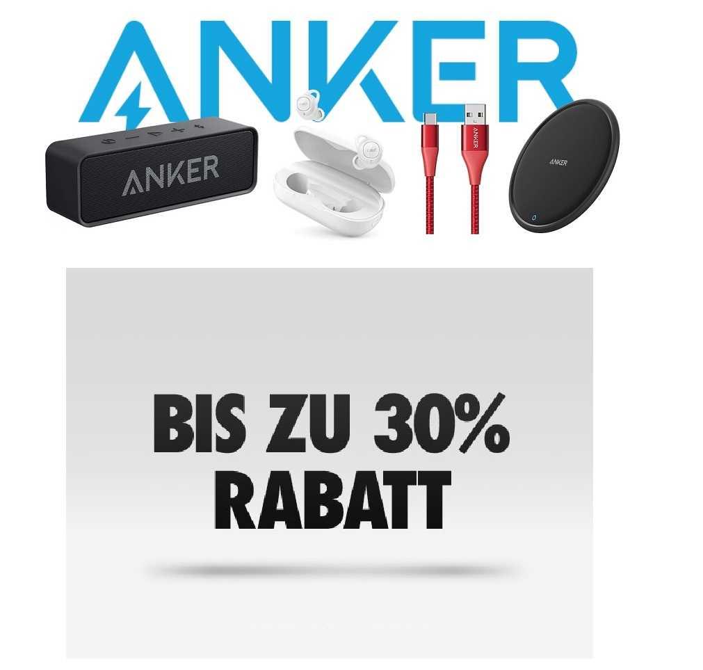 Amazon: ANKER Artikel mit bis zu 30% Rabatt - Powerbanks, Ladegeräte und mehr