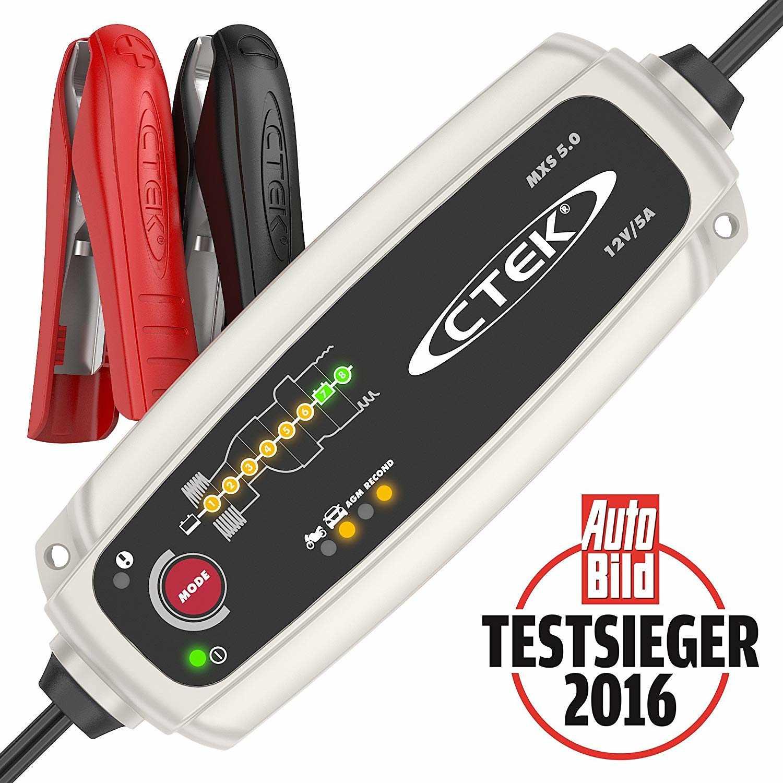 CTEK MXS 5.0 Batterieladegerät für 55,42€ (statt 63€)
