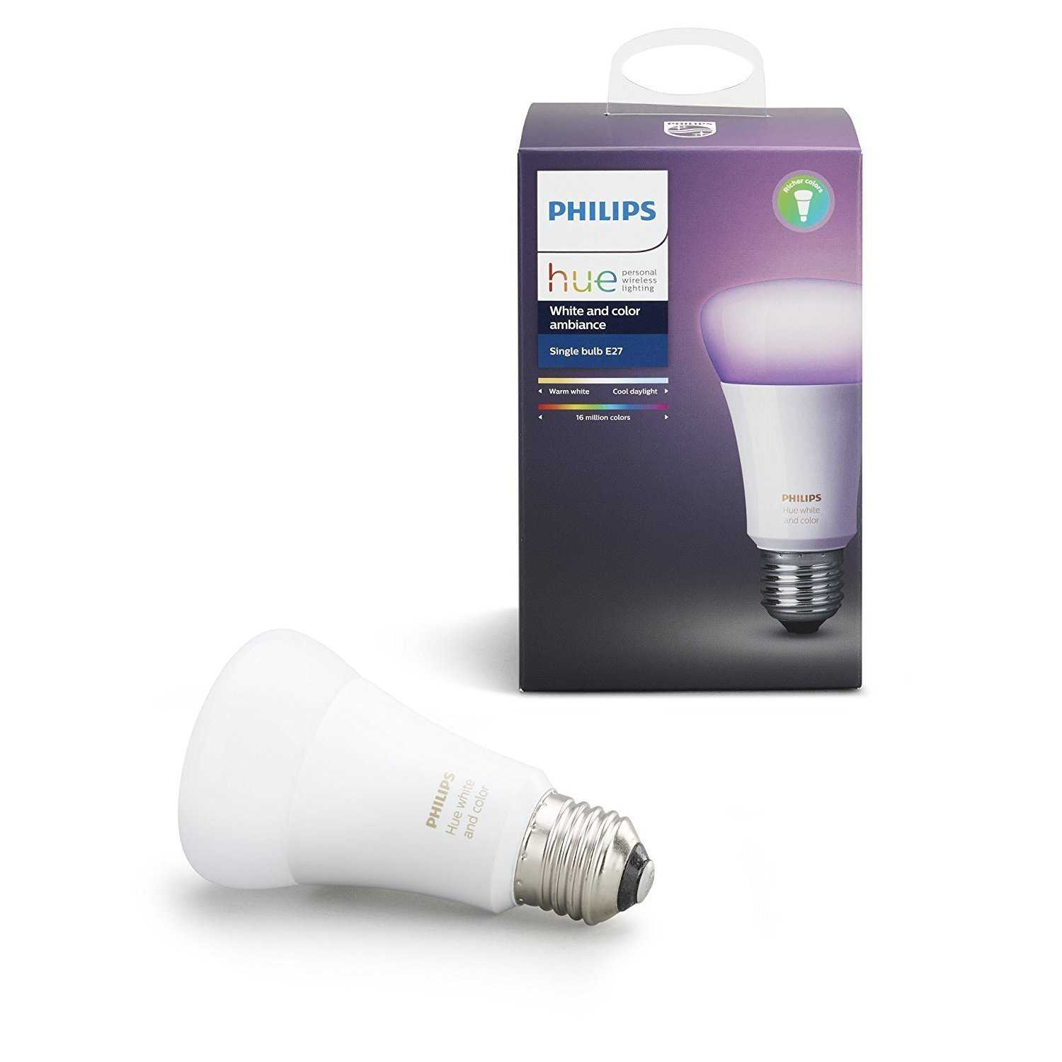 amazon de philips hue white and color ambiance e27 led lampe dreierpack fuer 9999 euro