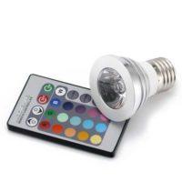 amazon e27 85v 265v 3w multi color rgb led light lamp bulb with ir remote controller
