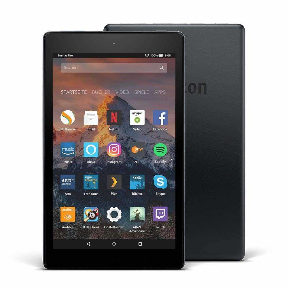 amazon fire hd 8 tablet mit alexa 203 cm 8 zoll hd display 16 gb schwarz