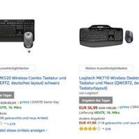 amazon logitech sale z b logitech mk710 wireless desktop combo tastatur und maus fuer 5699e sattt 7918e