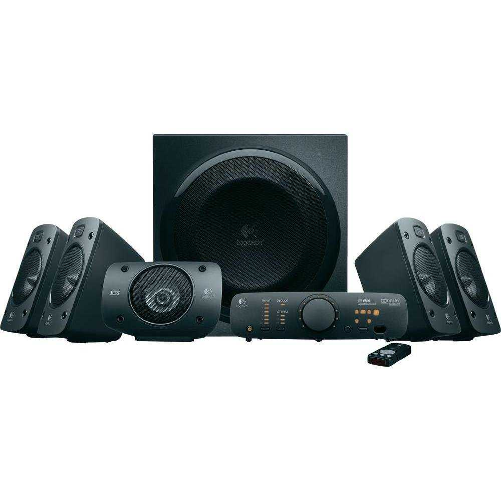 amazon logitech z906 5 1 soundsystem mit thx dolby