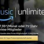 Amazon Music Unlimited für 3 Monate gratis testen (Primekunden)
