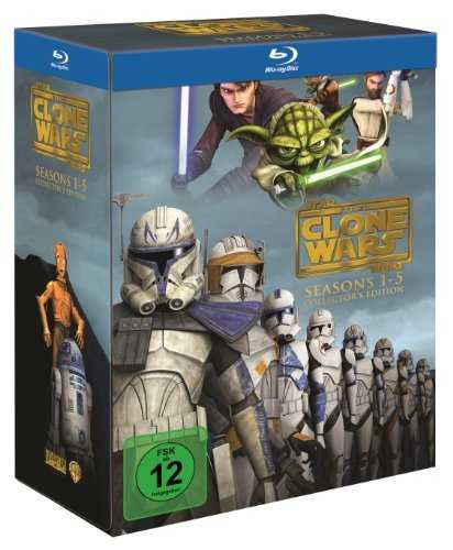 amazon prime star wars clone wars komplettbox 5 staffeln auf blu ray