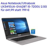 asus notebookultrabook ux3410ua gv628t i5 7200u 2 5g 8 gb speicher 256 gb ssd 1000 gb hdd fuer 64199 estatt 799 e 2