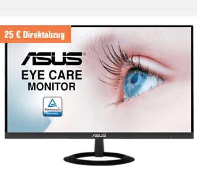 ASUS VZ279HE Full-HD Monitor (5 ms Reaktionszeit, 60 Hz) für 149,85€ (statt 163€)