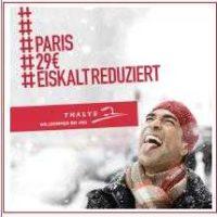 bahntickets deutschland paris ab 29e bzw 58e fuer hin und rueckfahrt bei thalys
