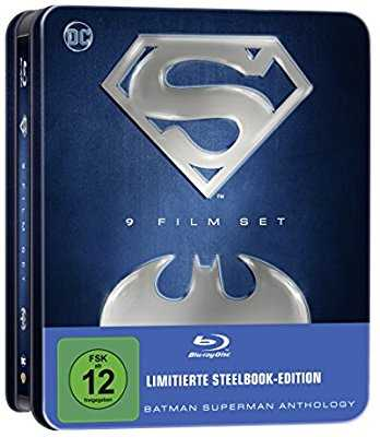 batman superman anthology 9 film set blu ray limited edition