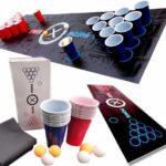 Beer-Pong Trinkspiel Matte Komplett Set im Blitzangebot