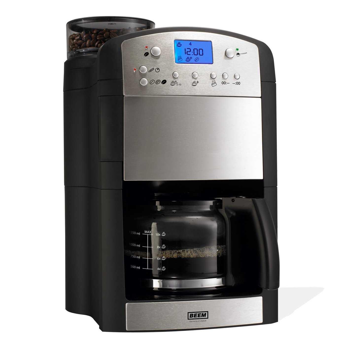 bei amazon gibt es die beem fresh aroma perfect v2 kaffeemaschine mit mahlwerk fuer 10999 statt 12104