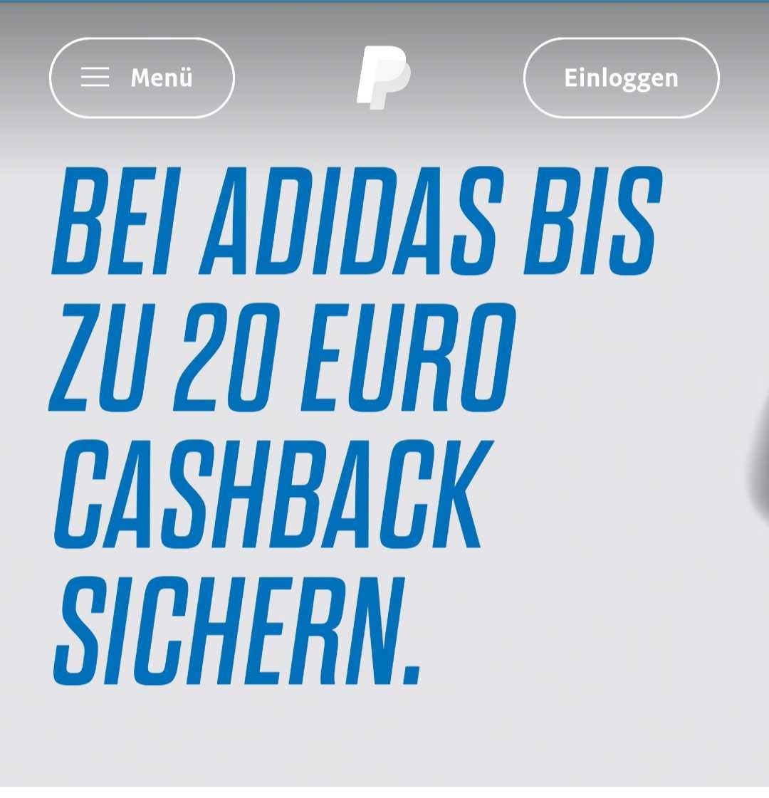 bis 20e cashback auf selbstdesignten adidas schuhe