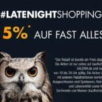 Bis Mitternacht: 15% Rabatt im Latenight-Shopping im Kaufhof